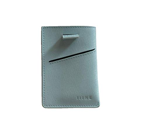The Ultimate Card Holder - Minimal | Slim Wallet | RFID Protection | Handmade | Genuine Leather Wallet in Pastel Blue