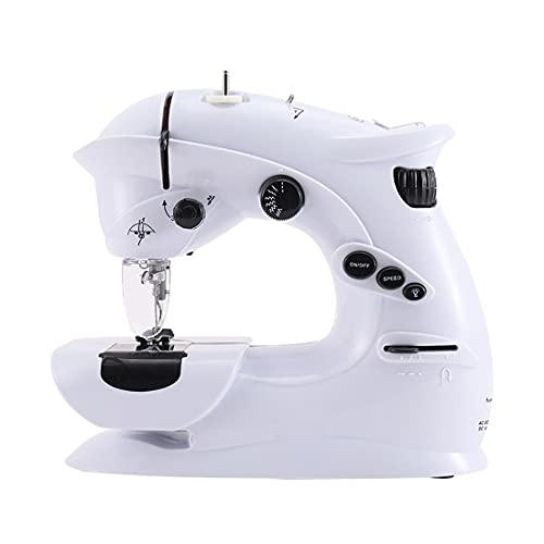 Mini Máquina De Coser La máquina de coser eléctrica portátil es simple y rápida para reparar las cortinas de ropa DIY artesanías adecuadas para principiantes, adultos y familias Máquina De Coser Para