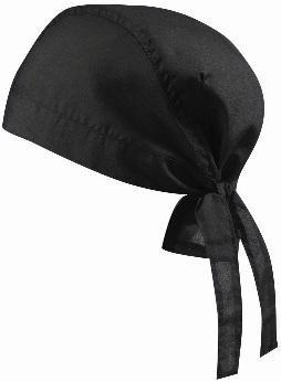 Myrtle Beach Bandana (lot de 5 Bandana de pirate et chapeau motard Chapeau 5 couleurs Noir Noir