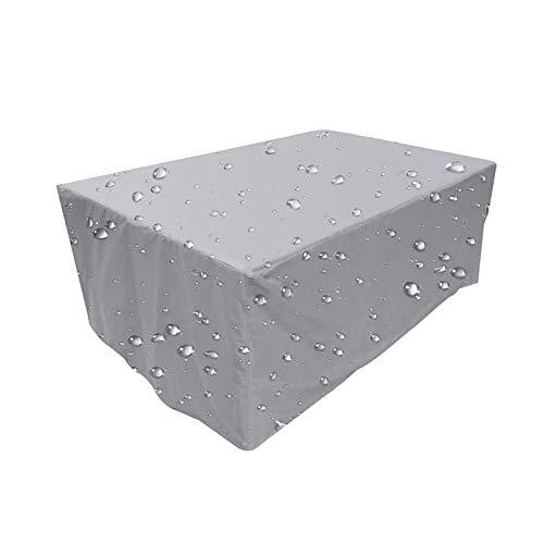 Abdeckung Gartenmöbel, Schwerlast Oxford Gewebe Schutzhülle, Wasserdicht Gartentisch Abdeckung,für Sitzgarnituren Gartentische und Möbelsets, Rechteckig