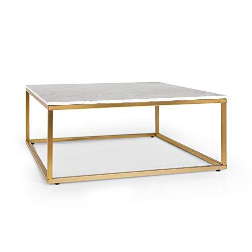 Besoa White Pearl II Table Basse 81,5x35 Or/Blanc