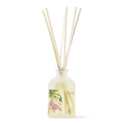 Reed Diffuser Set Lily – Home Fragrance Jasmine – Home Decor and Housewarming Gift Idea