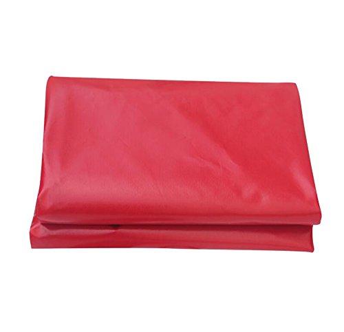 ZZYE Lona Tarpa a prueba de agua roja Cubierta de lluvia del techo de la techo del coche  Underla de campaña para acampar y al aire libre a prueba de agua TARP 450G / m² Espesor 0.3mm lona impermeable