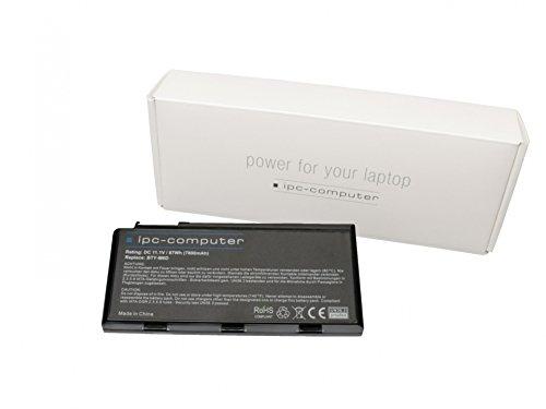 IPC-Computer Akku 87Wh kompatibel für Medion Erazer X7825 Serie