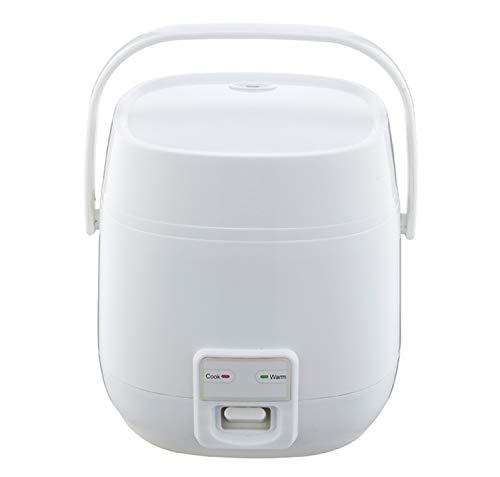 Rijstkoker Hoge Temperatuur Bescherming Anti-aanbaklaag Inner Pot Automatische 1.2L Koken Gezond voedsel Groenten Gemakkelijk Schoonmaken Maak Rijst Stoom Kleur: wit