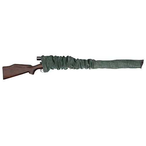 Funda tipo calcetín Tourbon para rifle o escopeta, funda tejida tratada con aceite de silicona, de 132cm, hombre, Gun Sack, verde claro