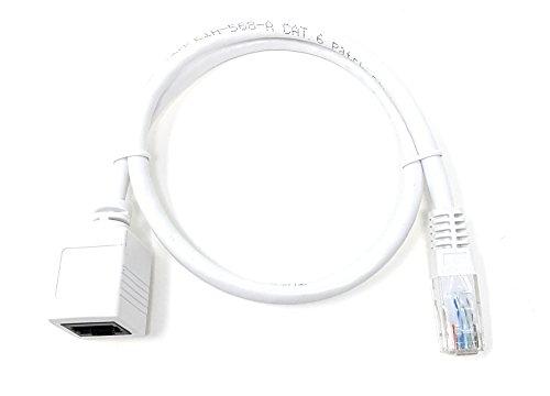 MainCore - Prolunga per cavo di rete LAN Ethernet RJ45 CAT6,26AWG, fino a 10/100/1000(Gigabit) Mbps, da maschio a femmina, disponibile in 0,5m, 1m, 2m, 3m, 5m, 10m di lunghezza 0,5 m white