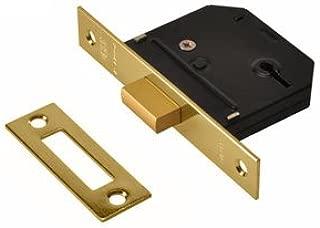 Union Essentials 3 Lever Deadlock 65mm PB