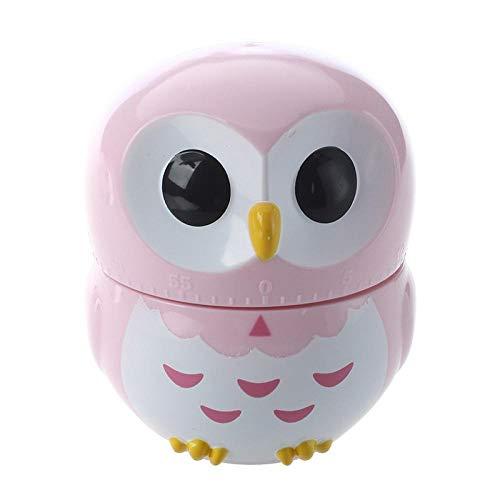 Eule Eieruhr Sanduhr Eieruhr Küchenuhr (1-60 Minuten) (Pink) -Pink