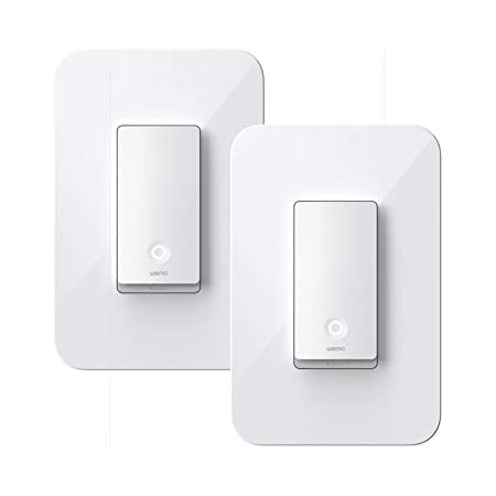 Wemo WLS0403-BDL Wi-Fi Light Switch 3-Way 2-Pack Bundle - Control Lighting from Anywhere, Easy In-Wall Installation, Compatible with Alexa, Google Assistant and Apple HomeKit , White