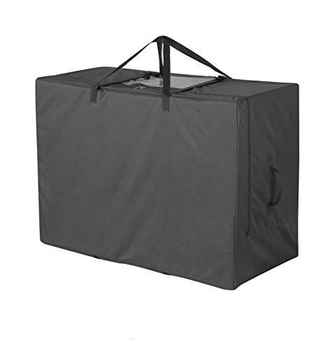 Cuddly Nest Bolsa de almacenamiento de colchón plegable, funda de transporte resistente para colchón de cama de invitados de tres pliegues (se adapta a colchones estrechos de 10 a 15 cm)