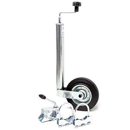 WilTec Roue Jockey pour remorque avec Borne de Serrage & Dispositifs de Serrage Charge Max. 150 kg 48 mm