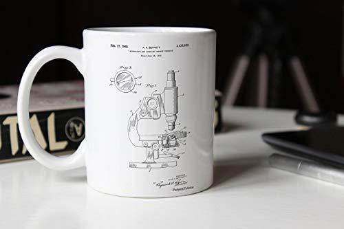 Zachrtroo antieke microscoop patent beker apotheek geschenk wetenschap decor biologie leraar technologie beker Chemie wetenschap leraar geschenk PP0064