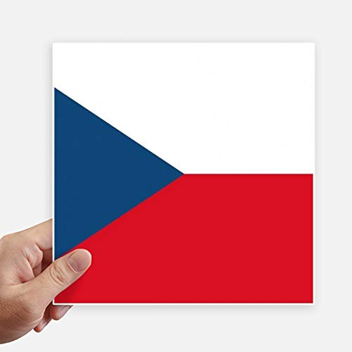DIYthinker Tsjechië Nationale Vlag Europa Land Vierkante Stickers 20 Cm Wandkoffer Laptop Motobike Decal 4 Stks