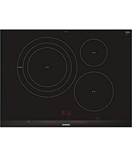 Siemens EH775LDC1E iQ300 - Placa de inducción, 70 cm Ancho, 3 Zonas Inducción, 17 niveles, Control...