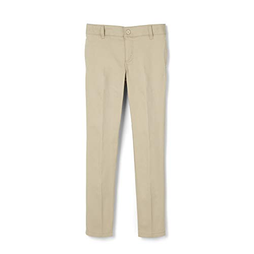 French Toast Big Girls' Stretch Twill Skinny Leg Pant, Khaki, 8