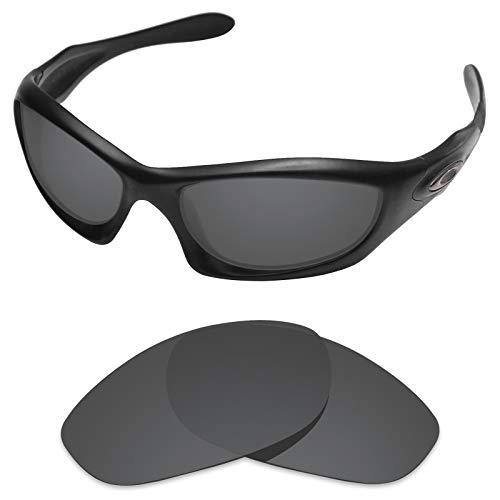 sunglasses restorer Kompatibel Ersatzgläser für Oakley Monster Dog, Polarisierte Black Iridium