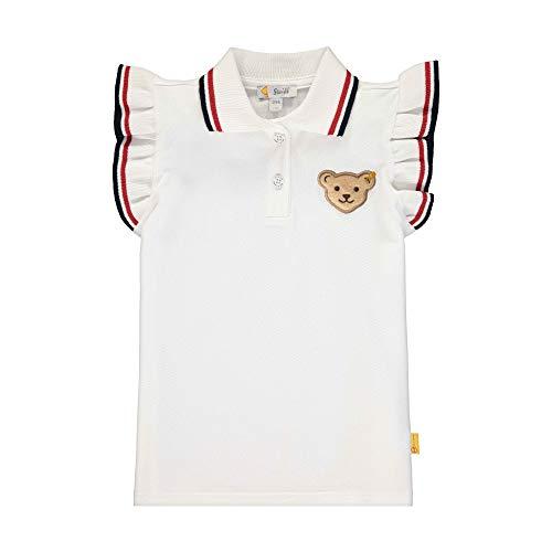 Steiff Mädchen Poloshirt, Weiß (Bright White 1000), (Herstellergröße: 122)