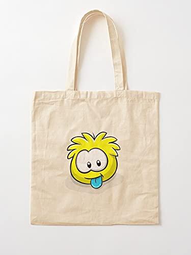 Juego de puffles Club Penguin Puffle Yellow Party   Bolsas de lona con asas, de algodón duradero