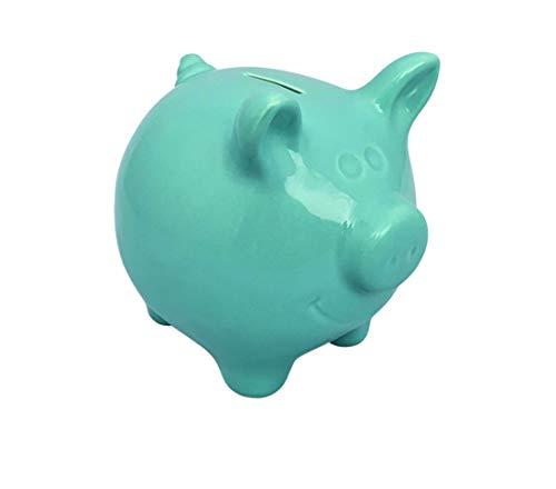Hucha de cerámica extragrande XXL azul – verde, hucha reutilizable para vacaciones,...
