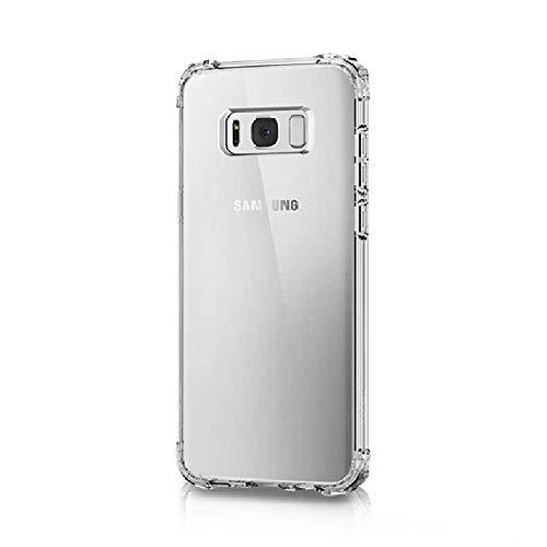 Amazon Brand - Solimo Mobile Cover (Soft & Flexible Shockproof Back Cover with Cushioned Edges)Transparent for Samsung Galaxy S8