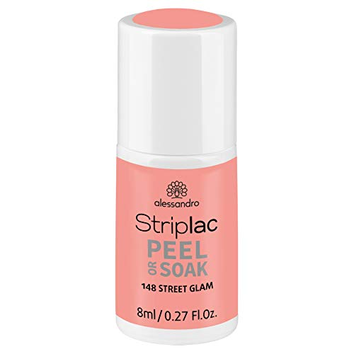 alessandro Striplac Peel or Soak Street Glam - LED-Nagellack in Rose - Für perfekte Nägel in 15 Minuten, 8 ml