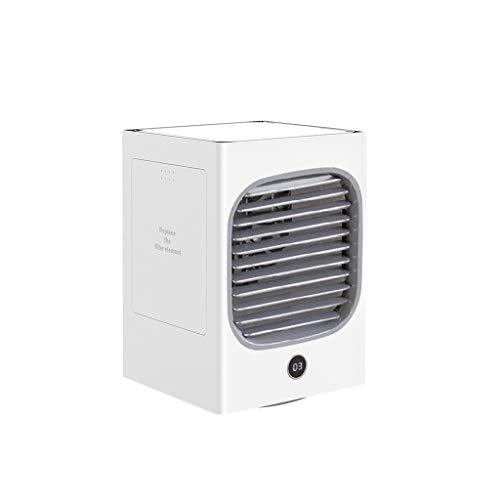 Sunnymi - Mini ventilador de aire acondicionado portátil con ventilador, ventilador de mesa para el hogar, la oficina, el dormitorio