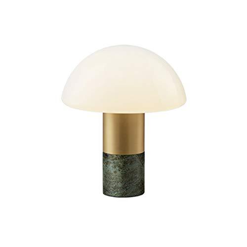 Lámpara de Mesa Bloquear dormitorio lámpara de mesa moderna sala de estar familiar de noche Mesilla de noche de la lámpara de mármol verde oscuro Tabla Base de la lámpara Lámparas de Escritorio