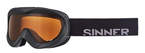 SINNER Erwachsene Task Skibrille/Snowboardbrille mit Doppelscheibe, Matte Black, One Size