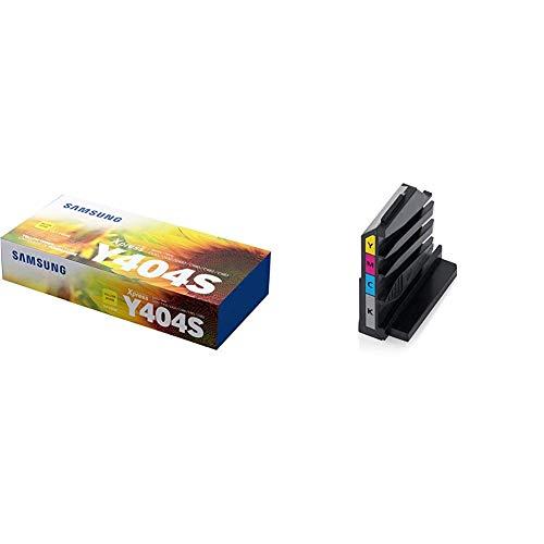 Samsung CLT-Y404S, Tóner, color Amarillo + CLT-W406/SEE - Tóner depósito residuos