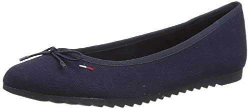Tommy Jeans Damen Color Block Ballerina Pumps, Blau (Twilight Navy C87), 39 EU