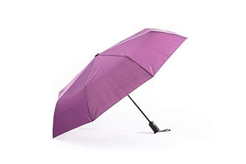 Paraguas Plegable y Resistente al Viento, Paraguas con Apertura y Cierre Automático, Paraguas con Varillas Reforzadas...