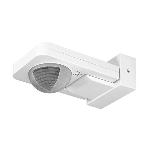 Orno - Detector de Movimiento para Exteriores (IP65, 360 Grados, con Sensor crepuscular), Blanco