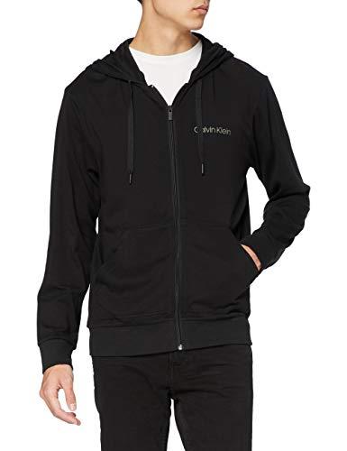 Calvin Klein Full Zip Sweatshirt Felpa, Nero (Black 001), Small Uomo
