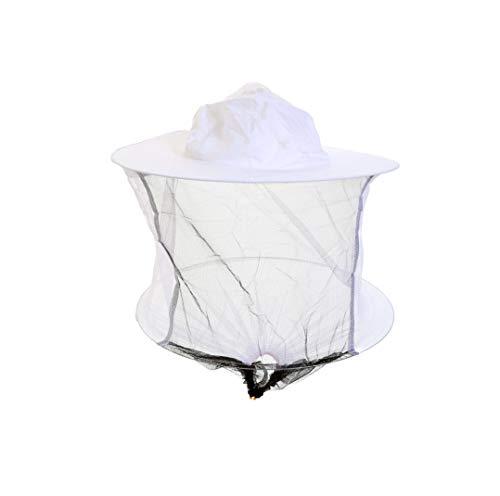 Chapeau et voile d'apiculture blancs avec bascule - Lot de 2