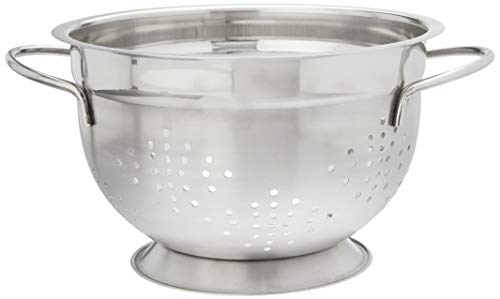 Cuisena 95872 Stainless Steel Colander, Silver