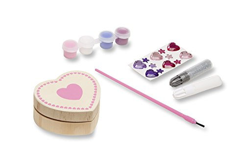 Melissa & Doug Decorate-Your-Own Box Craft Kit - Heart