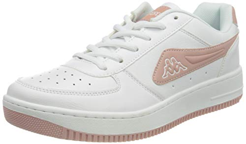 Kappa Unisex-Erwachsene Bash Nc Sneaker, 1071 White/darkrosé,41 EU