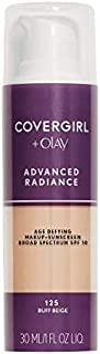 COVERGIRL Advanced Radiance Age-Defying Foundation Makeup, Buff Beige, 1 oz (Packaging May Vary)
