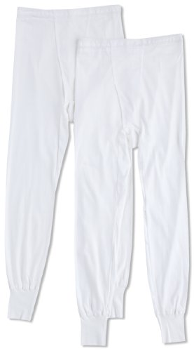 [グンゼ] 長ズボン下 やわらか肌着 綿100% 抗菌防臭加工 前あき 2枚組 SV61022 メンズ ホワイト 日本LL (日本サイズ2L相当)