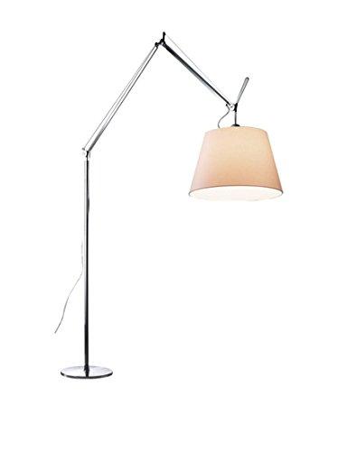 Artemide Tolomeo Mega LED Stehlampe Terra mit Dimmer 42, Pergamentschirm