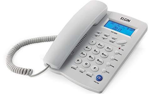Telefone com Fio de Mesa com Identificador Elgin TCF3000 Branco, Elgin, TCF3000B, Branco Gelo