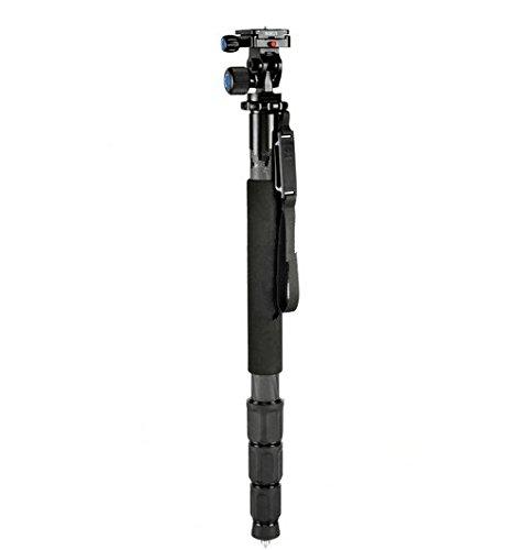 Gowe Tragbare Leichte Carbon-Faser Professionelle Kamera Einbeinstativ + L10Stativ Kopf + mit Tasche für Canon Nikon Sony DSLR