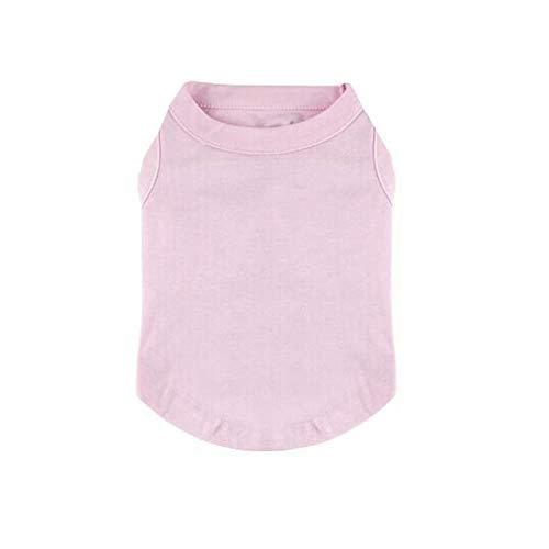 Pet Kleidung Hemden T-Shirt Leere Bequeme und einfache einfarbige kleine mittlere große Inexpe-T-Shirts