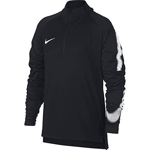 Nike Jungen Breathe Squad Drill Langarmshirt, Black/White, XS