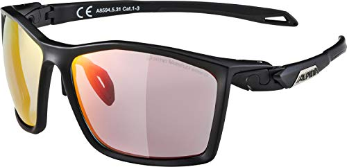 ALPINA TWIST FIVE QVM+ Sportbrille, Unisex – Erwachsene, black matt, one size