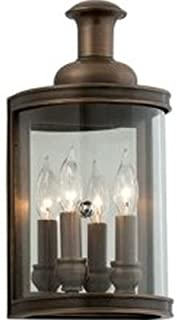 Troy Lighting B3191 Pullman - Two Light Small Wall Sconce, English Bronze Finish with Clear Glass