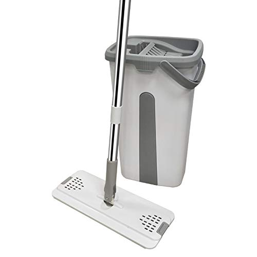 Haushaltsflachmop Freihandwaschmopp Eimer, Wasch- Und Mopp Integrierte Trocken- Und Nasstrennung 38 * 21.5 * 19CM A3