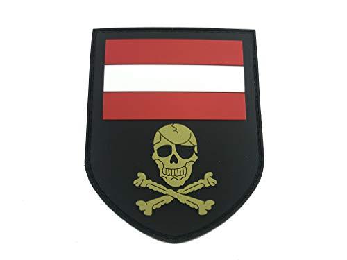 Österreicher Österreich Totenkopf PVC Klett Emblem Abzeichen Patch