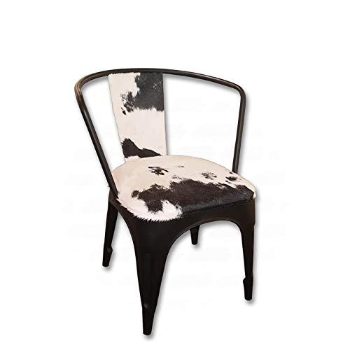 Inconnu Chaise en métal Peau de Vache